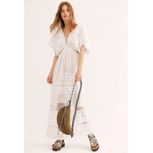 Free People La Tournette Lace Maxi Dress